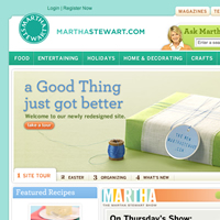 Martha Stewart's Web site