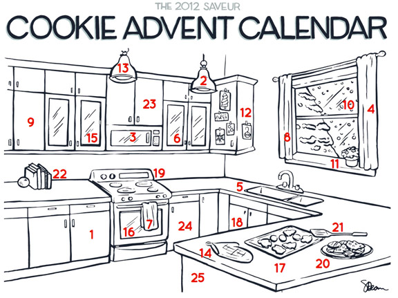 Cookie Advent Calendar 2012