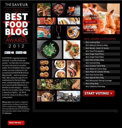 2012 Saveur Food Blog Awards