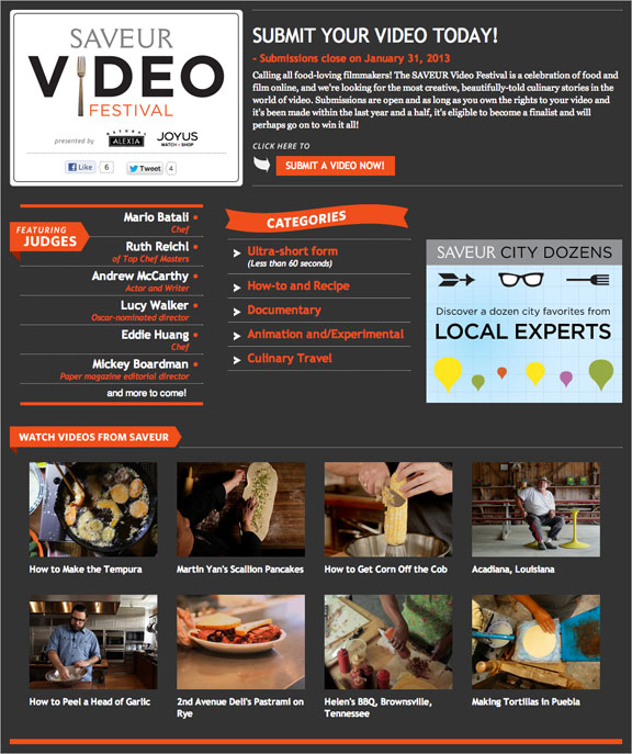 SAVEUR Video Festival